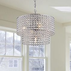 Shop for Ainhoa 5-light Chrome Double Round Crystal Chandelier. Get free shipping at Overstock.com - Your Online Home Decor Outlet Store! Get 5% in rewards with Club O!
