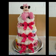 Minney Mouse diaper cake
