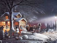 Terry Redlin Oil Paintings : Terry Redlin Outdoor Themes Art Painting