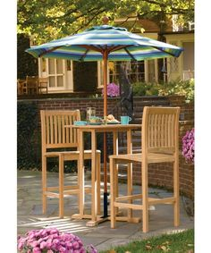 Delicieux Oxford Garden Sonoma Bar Height Patio Bistro Set   Outdoor Bistro Sets At  Hayneedle Bar Height