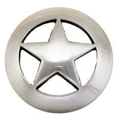 "BS9139 SRTP  1 1/2"" Antique Silver Star Concho"