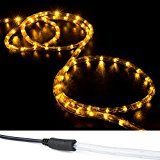 WYZworks 150 ft Orange (Amber) PRE-ASSEMBLED LED Rope Lights - 2 Wire Christmas Holiday Decoration Indoor / Outdoor... christmas deals week