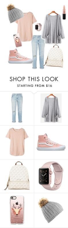 """Pink & Grey"" by lisa-hansen-2 ❤ liked on Polyvore featuring Current/Elliott, Vans, MICHAEL Michael Kors, Casetify and MAC Cosmetics"