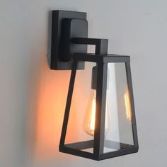 Antique Matte Black Lantern Indoor/Outdoor Wall Sconce Lighting Lamp #Unbranded #IndustrialLoft