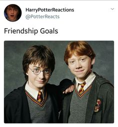 Eve and Harry's my friendship goal.