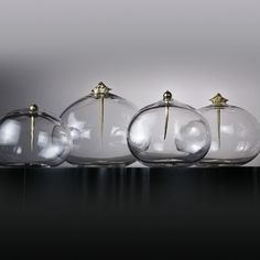 Hand Blown Glass Curiosity Vessels by Lindsey Adelman   by