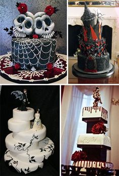 even though im not goth, i really like these alot! :) Goth wedding cakes