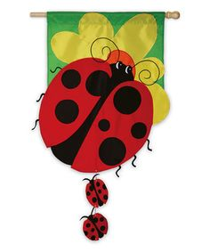 This Lady Bug Family Garden Flag by Evergreen is perfect! #zulilyfinds