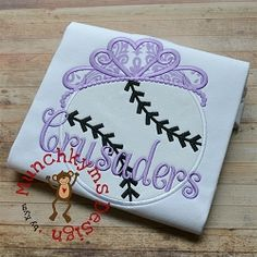 Baseball Tiara Applique - 3 Sizes! | What's New | Machine Embroidery Designs | SWAKembroidery.com Munchkyms Design