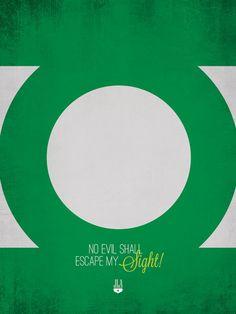Green Lantern Minimalist Poster
