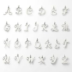Pick a letter, any letter. Get personal with our large and small script initials to wear as pendants or charms. #jamesavery