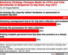 Management buy-in was important for about two respondents in five, but a comparatively small 25% were actually putting any big data-related insights into practice.