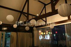 Paper lantern canopy hire   #bdjcevents #eventlighting #partylighting #venuedressing #ledtablecentres #paperlanterncanopy