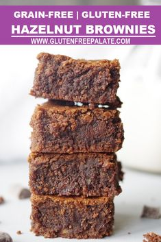 Easy grain-free hazelnut brownies that are rich, fudgey, and perfect for anyone who loves brownies. #grainfree #brownie #glutenfree #dessert #chocolate #hazelnut