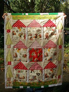#christmas quilt - houses