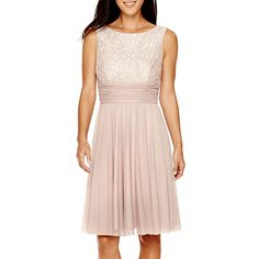 La Nouvelle Renaissance Sleeveless Ruched-Waist Dress - JCPenney