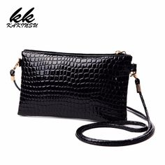 Coofit Fashion Women's Crossbody Bags Girls Crocodile Pattern Clutchs Mini PU Leather Messenger Bag and Purses Lady Shoulder Bag Leather Crossbody, Leather Handbags, Pu Leather, Crossbody Bags, Clutch Bags, Satchel Bag, Leather Bags, Tote Bag, Women's Bags