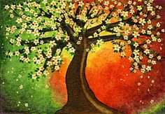 Alcohol Ink Painting - Tree Of Peace by Shirley Dawson