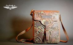 STEAMPUNK LEATHER BAG had made leather men by SteampunkMasks