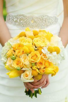 Can't imagine a happier bridal bouquet! by Lush Couture Yellow Bouquets, Floral Bouquets, Yellow Wedding Flowers, Yellow Flowers, Evening Garden Parties, Dallas Wedding, Bride Bouquets, Mellow Yellow, Summer Wedding