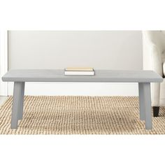 Safavieh Rocco Pearl Blue Grey Bench, USD183.99