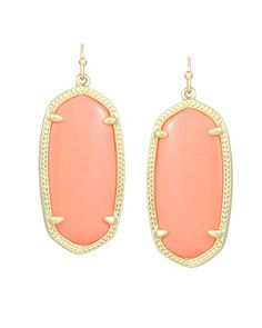 Kendra Scott Elle Earrings in Coral...they match almost nothing which means I wear them with everything