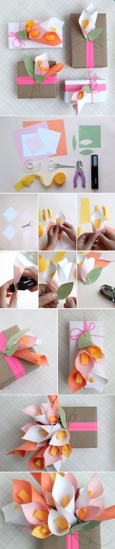 DIY Paper Calla Lilies - Un detalle mas a tu regalos