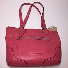 """Coach Handbag Pink leather handbag with shoulder straps and silver hardware. Excellent like new condition and shows no signs of use. Interior in impeccable condition, no signs of use. One interior zip pocket and two open pockets. One exterior zip pocket. Shoulder strap drop 9.5"""". Posh rules only, no trade or PP. Price discussed using Offer button only. Coach Bags Shoulder Bags"""