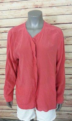 def3376788 J. Jill silk blouse womens size XL long sleeve career casual work  JJill