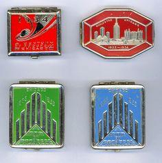 Souvenir compacts-World's Fair Century of Progress-Chicago 1933