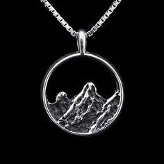 Colorado Mountain Necklace sterling silver by rockystiersjewelry