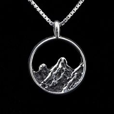 Mountain Necklace~ Handcrafted in Colorado ~ sterling silver ~ 39.00