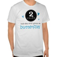 Gift For 2nd Wedding Anniversary Butterfly Shirts