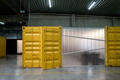 shipping container offices for drukta + formail by five AM