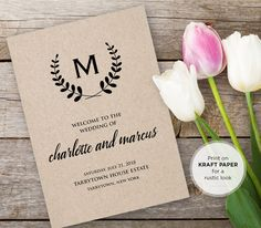 Hey, I found this really awesome Etsy listing at https://www.etsy.com/listing/293902857/wedding-program-template-instant