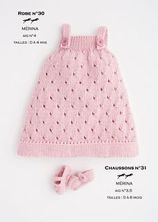 "diy_crafts-FREE PATTERN ""Ravelry: Dress-Booties pattern by Cheval Blanc Official"", ""Knitted jumper for girl. Baby Knitting Patterns, Knitting For Kids, Baby Patterns, Free Knitting, Knitting Ideas, Crochet Patterns, Girls Knitted Dress, Knit Baby Dress, Knitted Baby Clothes"