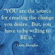 Be that change