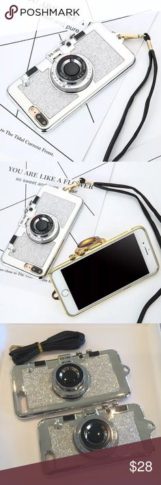 📣FLASH SALE📣 FIRM PRICE ‼️iPhone Case A fun and stylish 3D camera design case! The case has a small flip mirror in the front for quick access before you take that selfie! 🤳🏼 Comes with a black faux leather strap. Made of soft silicone and plastic. The color is a silver chrome. Available in two sizes: iPhone 7, and iPhone 7 Plus. Accessories Phone Cases