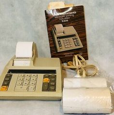 Vintage Texas Instrument Electronic Printing Calculator With Paper Rolls Slide Rule, Rare Words, Solar Battery, Red Led, Office And School Supplies, Calculator, Instruments, Rolls, Texas