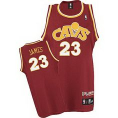 cbe712c42 LeBron James  23 Cleveland Cavaliers Retro CAVS Road Red Hardwood Classics  Throwback Jersey- 15.66