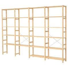 Have these at home full of archive boxes. You can get cupboard attachments as well. Untreated solid wood