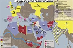 """Una mappa """"concettuale"""" sul Grande Medio Oriente Mondiale"""