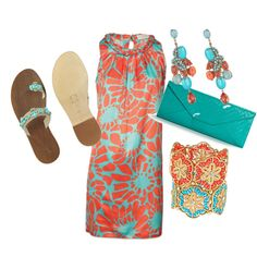 beach trip summer color, created by life2live on Polyvore