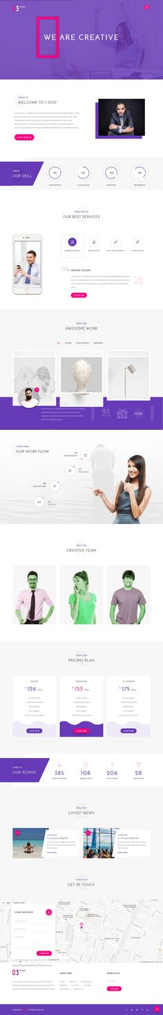 3 Step is a Clean and Modern #HTML5 Material Design Creative #Template for #Corporate Business, Corporate Portfolio, Creative Agency, Personal Portfolio, Blog, and any Portfolio related Business Website download now➯ https://themeforest.net/item/3-step-creative-corporate-business-and-personal-portfolio-template/16885819?ref=Datasata