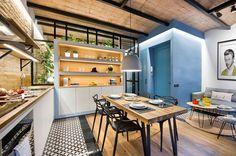 Urban Beach Home, un pequeño apartamento en el corazón de Barcelona - https://arquitecturaideal.com/urban-beach-home-pequeno-apartamento-corazon-barcelona/