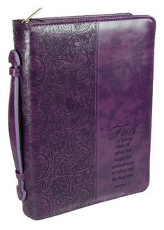 """Purple """"Faith"""" Bible / Book Cover... I want an iPad cover like this."""