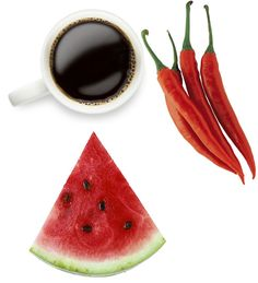 Aphrodisiac Body Boosters Coffee: mental, physical, sexual stimulant. Chili Peppers: boost endorphins for feel-good friskiness Watermelon: aphodisiac phytonutrient citrulline relaxes and dilates blood vessels