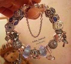Blue Pandora fairy tale bracelet