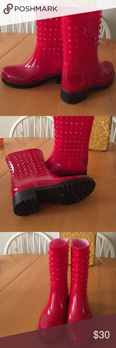 VinceCamuto inspired RainBoots...Mini Only worn once...great condition,minor scuff inner left boot Shoes Winter & Rain Boots