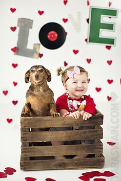 Valentines Session - Put Hank and Ella in an old tall tin I have.  HAHA.  T